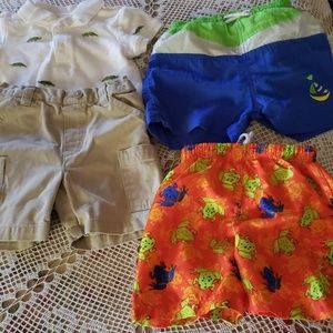 LOT 6 Swim Trunks Shorts Shirts Onesie